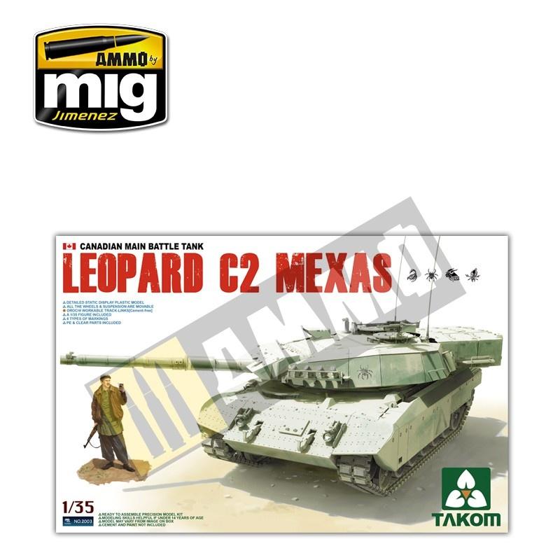 Takom Canadian MBT Leopard C2 MEXAS (Proto Version) - Scale 1/35 - Takom -TAKO2003