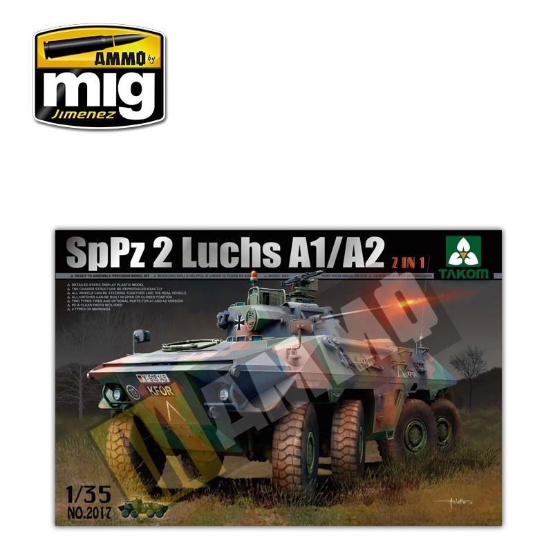 Takom Bundeswehr SpPz 2 Luchs A1/A2 2 in 1 - Scale 1/35 - Takom -TAKO2017