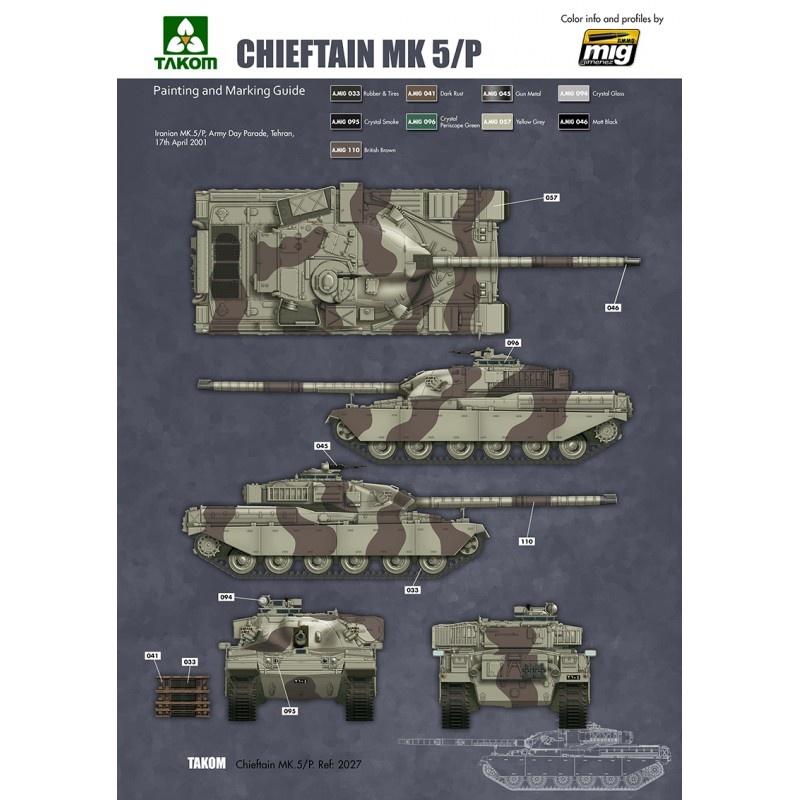Takom British Main Battle Tank Chieftain Mk.5/P 2 in 1 - Scale 1/35 - Takom -TAKO2027