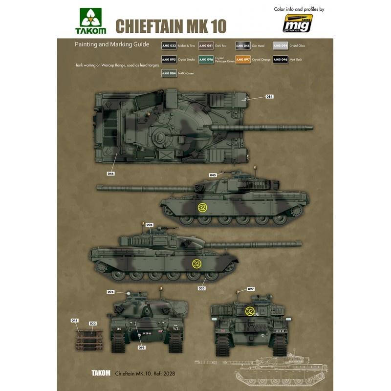 Takom British Main Battle Tank Chieftain Mk.10 - Scale 1/35 - Takom -TAKO2028