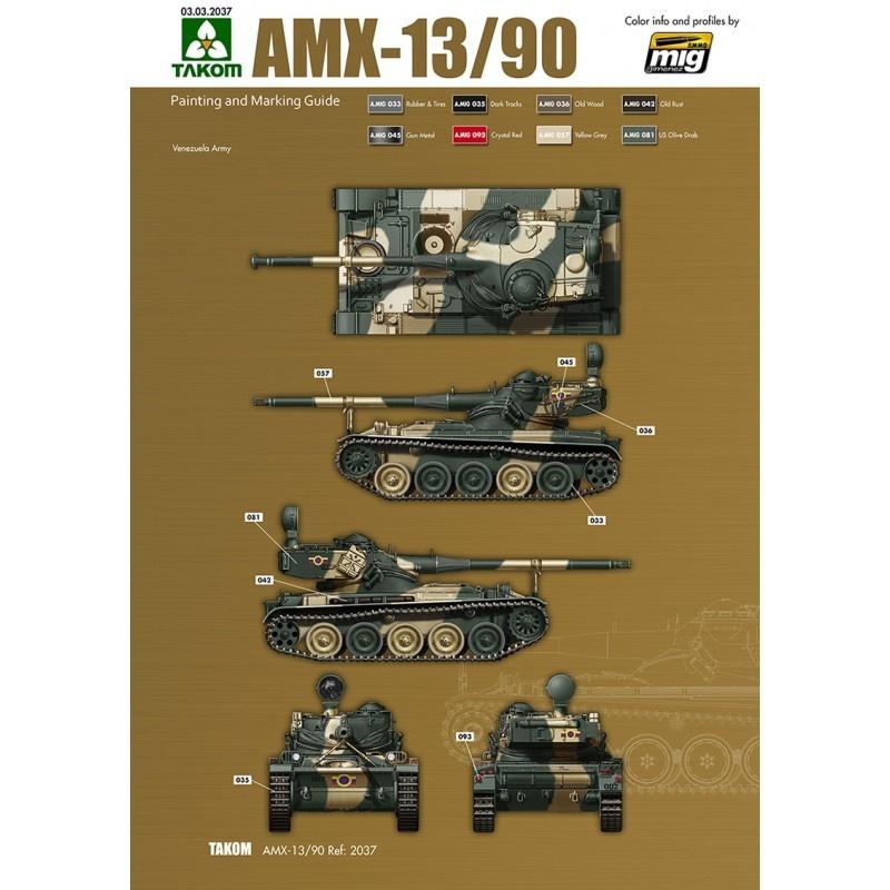 Takom French Light Tank AMX-13/90 - Scale 1/35 - Takom -TAKO2037