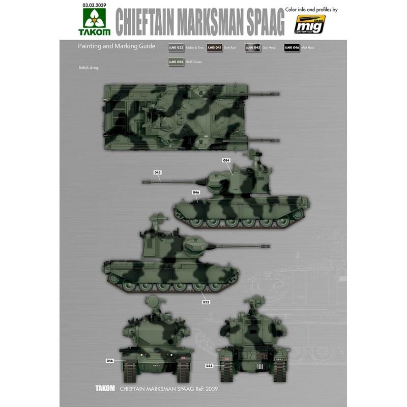 Takom British Air-defense Weapon System Chieftain Marksman SPAAG - Scale 1/35 - Takom -TAKO2039