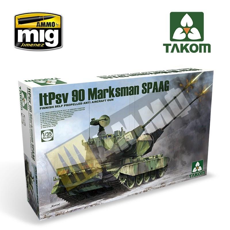 Takom Finnish Self Propelled Anti Aircraft Gun ItPsv 90 Marksman SPAAG - Scale 1/35 - Takom -TAKO2043