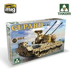 Bundeswehr Flackpanzer1 Gepard SPAAG A1/A2 2 in 1 - Scale 1/35 - Takom -TAKO2044