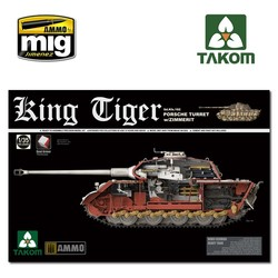 WWII German King Tiger Porsche Turret w/Zimmerit and interior SPECIAL EDITION - Scale 1/35 - Takom -TAKO2046S