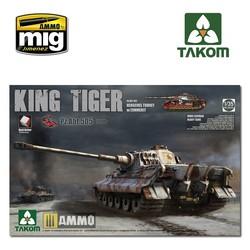 WWII German King Tiger Henschel w/Zimmerit and interior [Pz.Abt.505] SPECIAL EDITION - Scale 1/35 - Takom -TAKO2047S