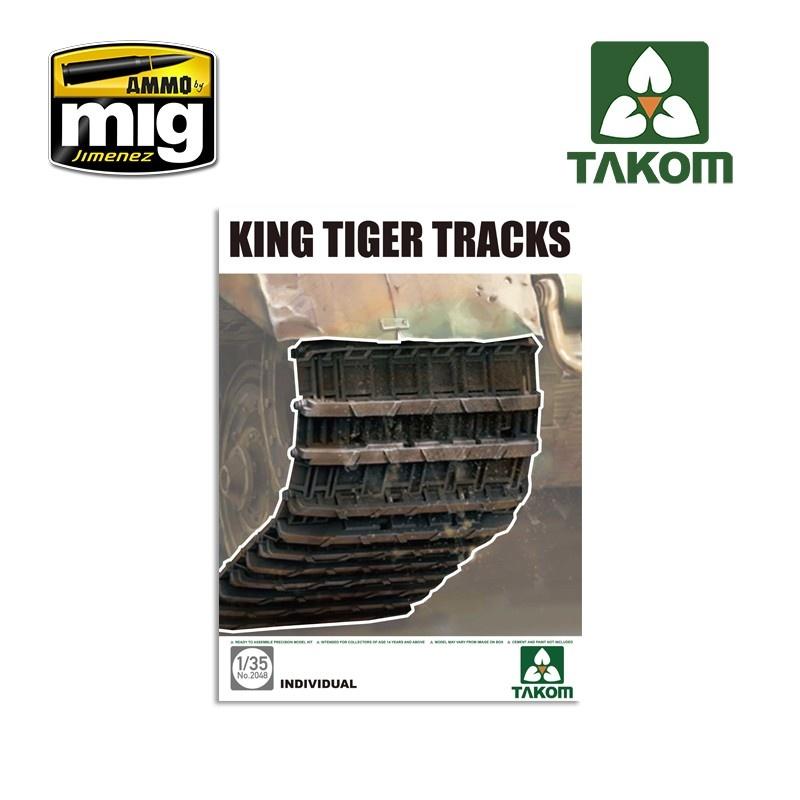 Takom King Tiger Tracks - Scale 1/35 - Takom -TAKO2048