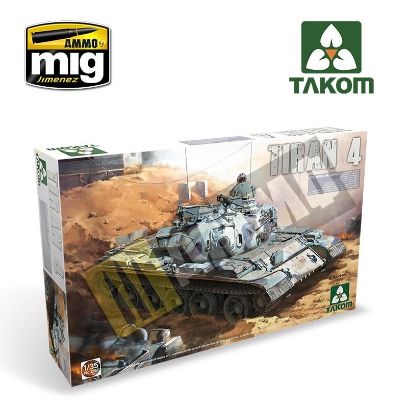 Takom IDF Medium Tank Tiran-4 - Scale 1/35 - Takom -TAKO2051