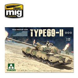 Iraqi Medium Tank Type-69 II 2 in 1 - Scale 1/35 - Takom -TAKO2054