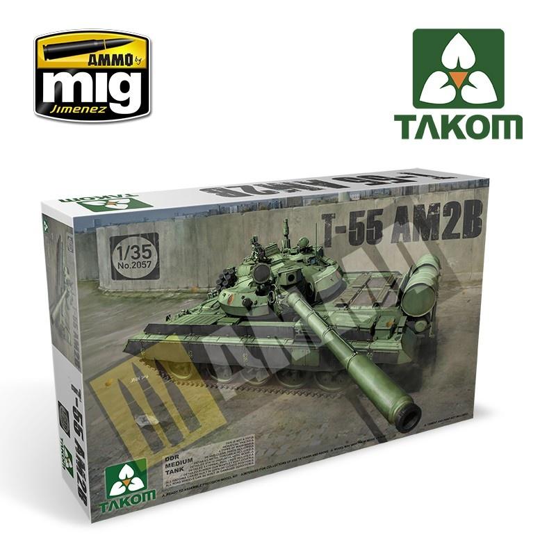Takom DDR Medium Tank T-55 AM2B - Scale 1/35 - Takom -TAKO2057
