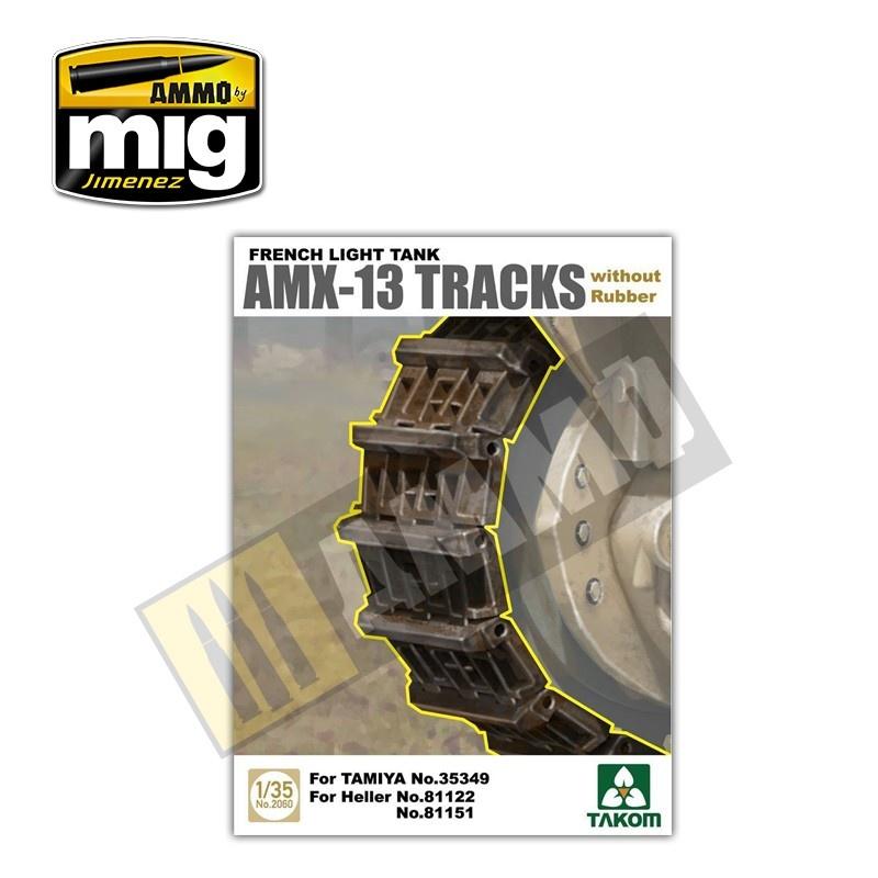 Takom French Light Tank AMX-13 Tracks without Rubber - Scale 1/35 - Takom -TAKO2060