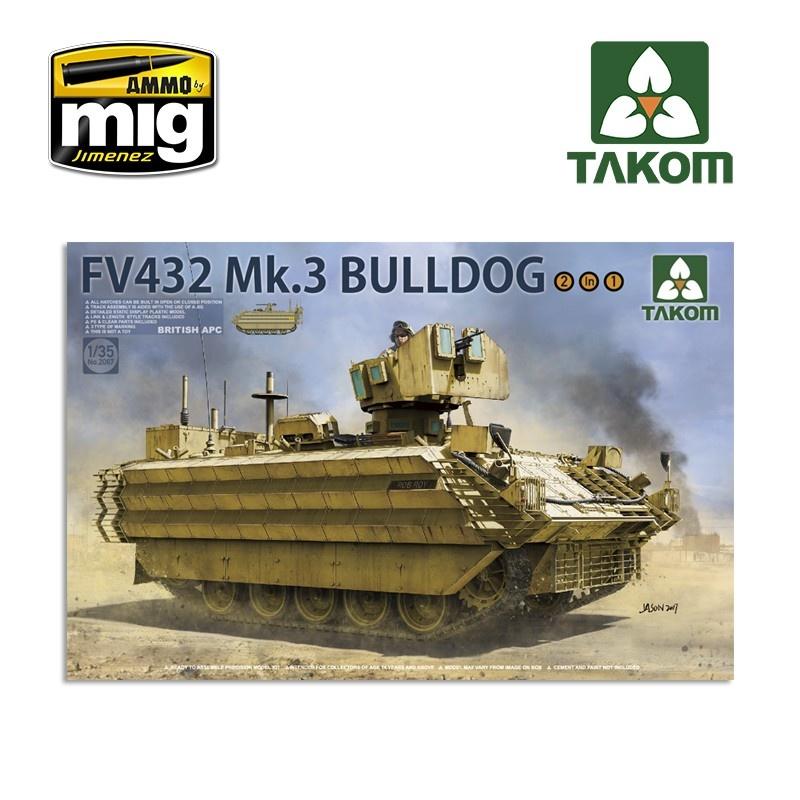 Takom  British APC FV432 Mk.3 Bulldog  2 in 1 - Scale 1/35 - Takom -TAKO2067