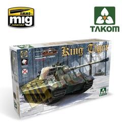 WWII German King Tiger Henschel Turret w/interior [without Zimmerit] - Scale 1/35 - Takom -TAKO2073