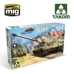 WWII German King Tiger Porsche Turret w/interior [without Zimmerit] - Scale 1/35 - Takom -TAKO2074