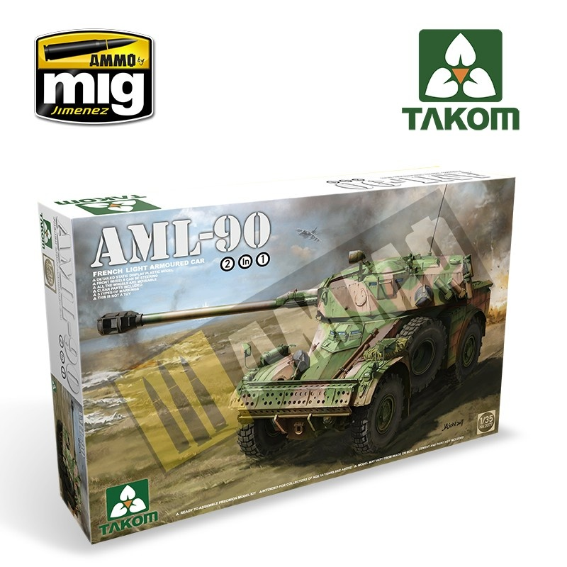 Takom French Light Armoured Car AML-90 - Scale 1/35 - Takom -TAKO2077