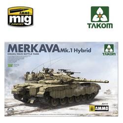 Israeli Main Battle Tank Merkava 1 Hybird - Scale 1/35 - Takom -TAKO2079