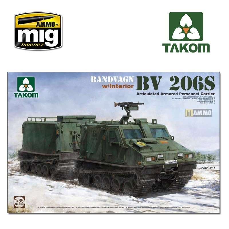 Takom Bandvagn Bv 206S Articulated Armored Personnel Carrier - Scale 1/35 - Takom -TAKO2083