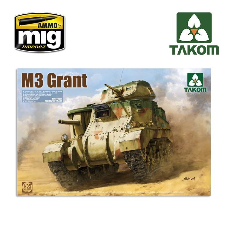 Takom British Medium Tank M3 Grant - Scale 1/35 - Takom -TAKO2086