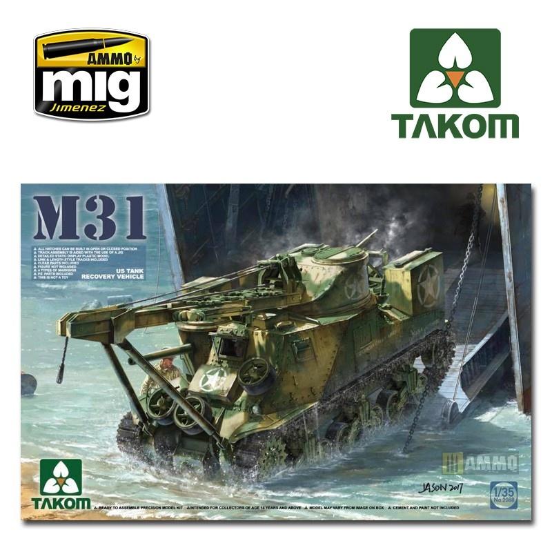 Takom M31 US Tank Recovery Vehicle - Scale 1/35 - Takom -TAKO2088