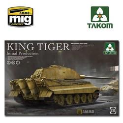 WWII German heavy tank King Tiger initial production 4 in 1 - Scale 1/35 - Takom -TAKO2096