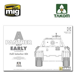 WWII German Tank Sd.Kfz.171 Panther A early production w/ full interior kit - Scale 1/35 - Takom -TAKO2097