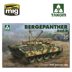 Bergepanther Ausf.D Umbau Seibert 1945 production w/ full interior kit - Scale 1/35 - Takom -TAKO2102