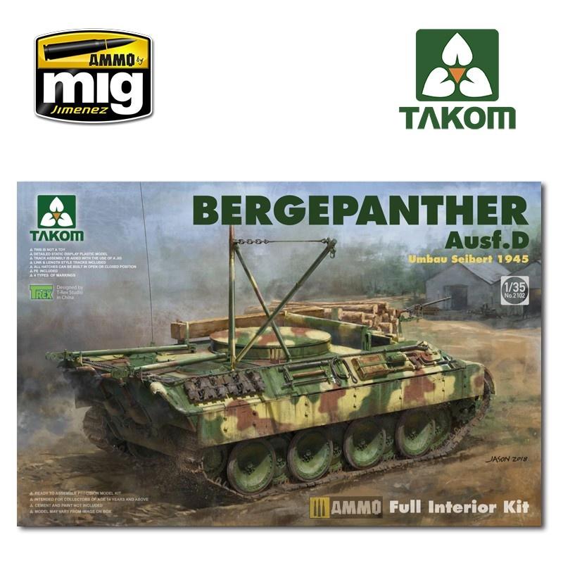 Takom Bergepanther Ausf.D Umbau Seibert 1945 production w/ full interior kit - Scale 1/35 - Takom -TAKO2102