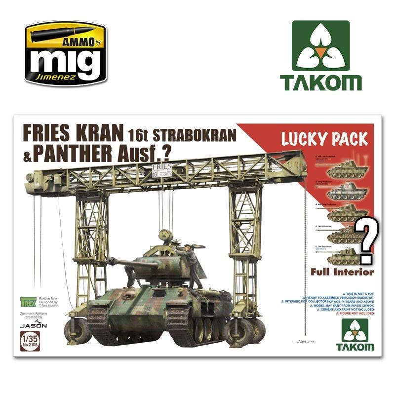 Takom Fries Kran 16t Strabokran 43/44 + Panther full interior (Random: TAKO2097/2098/2099/2100/2104) - Scale 1/35 - Takom -TAKO2108