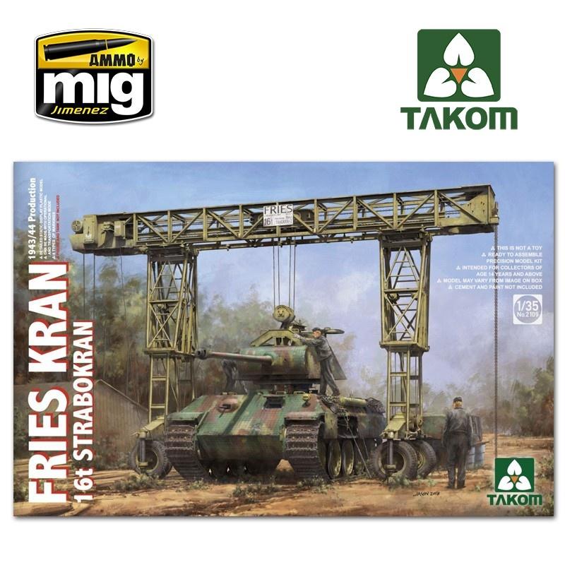 Takom Fries Kran 16t Strabokran, 1943/44 Production - Scale 1/35 - Takom -TAKO2109