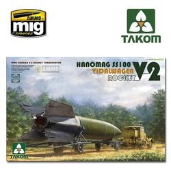 V-2 Rocket Vidalwagen Hanomag SS100 - Scale 1/35 - Takom -TAKO2110