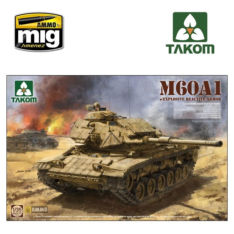 Takom  M60A1 w/ERA - Scale 1/35 - Takom -TAKO2113