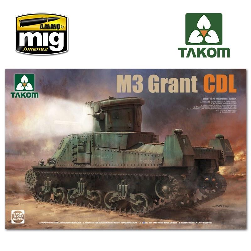Takom British Medium Tank M3 Grant CDL - Scale 1/35 - Takom -TAKO2116