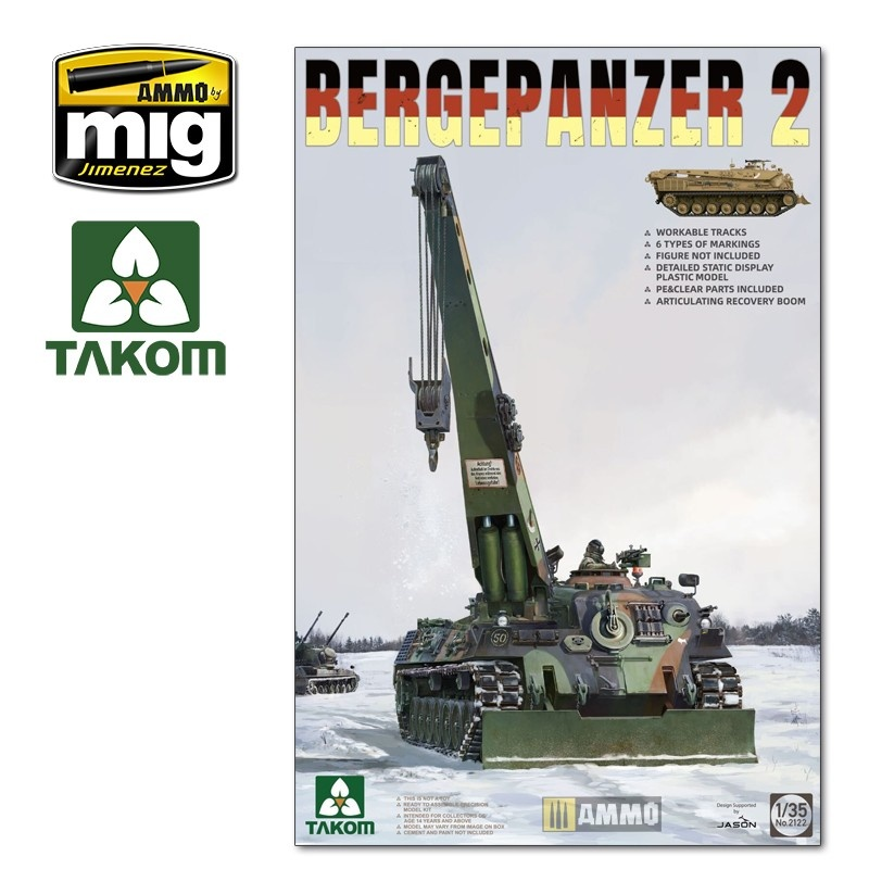 Takom Bergepanzer 2 - Scale 1/35 - Takom - TAKO2122