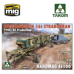 Stratenwerth 16t Strabokran 1944/45 Production & Hanomag ss100 - Scale 1/35 - Takom -TAKO2124