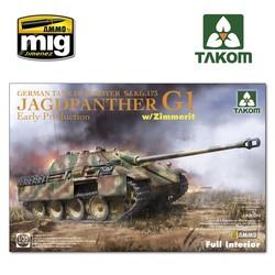 Jagdpanther G1 early German Tank Destroyer Sd.Kfz.173 w/ Zimmerit / full interior kit - Scale 1/35 - Takom -TAKO2125