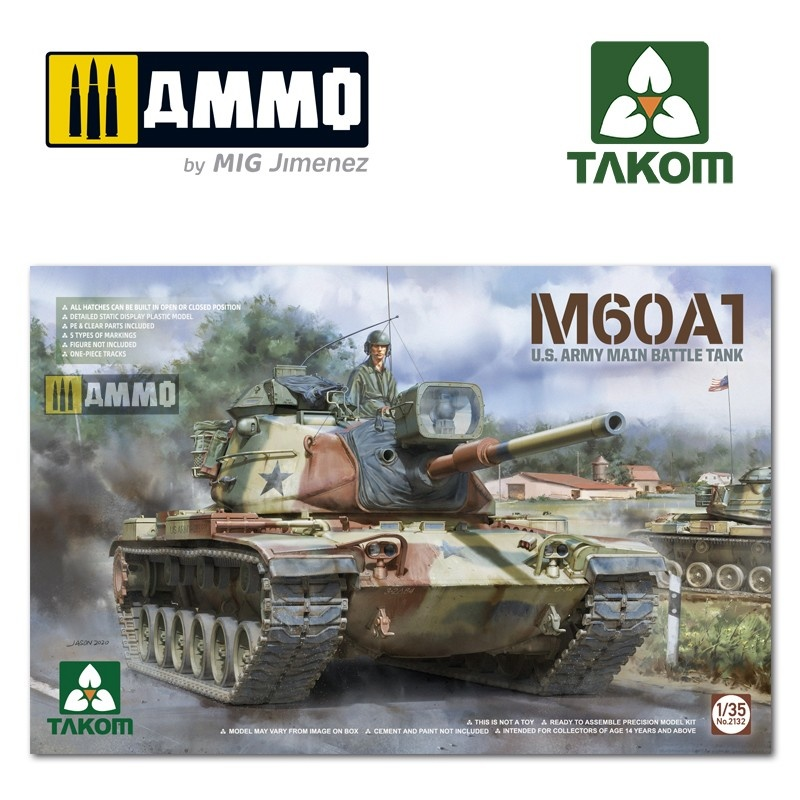Takom M60A1 U.S .Army Main Battle Tank - Scale 1/35 - Takom -TAKO2132