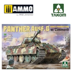 Panther Ausf.G Early Production w/Zimmerit - Scale 1/35 - Takom -TAKO2134