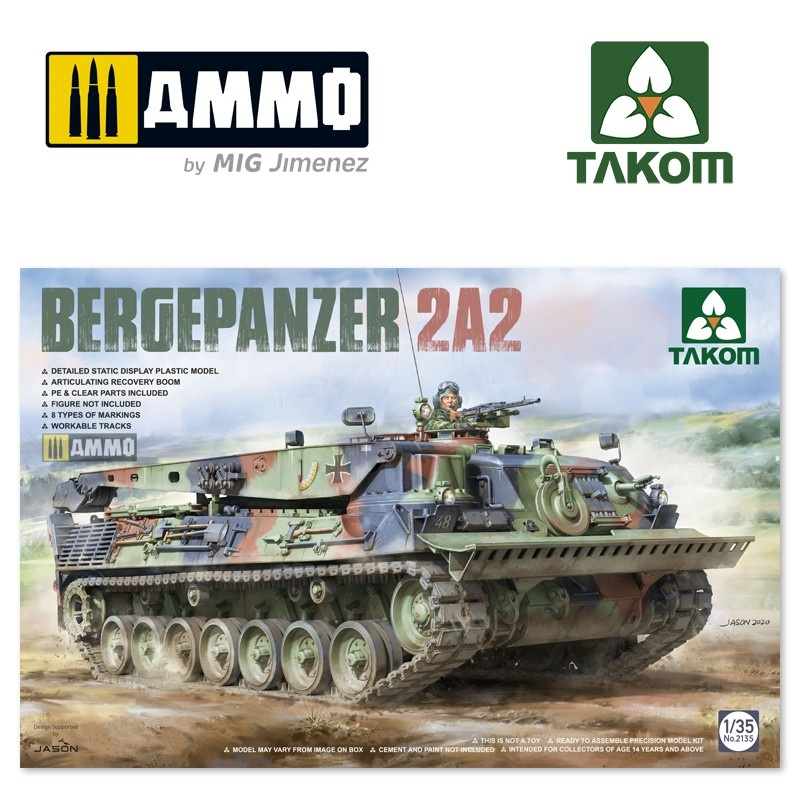 Takom Bergepanzer 2A2 - Scale 1/35 - Takom -TAKO2135