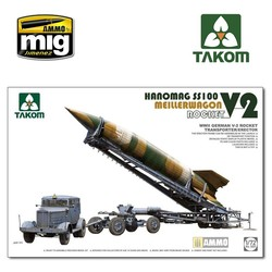 WWII German V-2 Rocket Transporter/Erector Meillerwagen + Hanomag SS100 - Scale 1/72 - Takom -TAKO5001