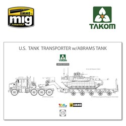 U.S. M1070&M1000 70 Ton Tank Transporter w/ Abrams TANK Limited Edition - Scale 1/72 - Takom -TAKO5002X