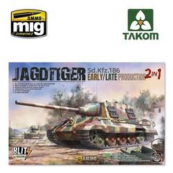 Sd.Kfz.186 Jagdtiger early/late production 2 in 1 - Scale 1/35 - Takom -TAKO8001