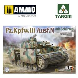 Pz.Kpfw.III Ausf.N mit Schürzen - Scale 1/35 - Takom -TAKO8005