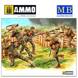 Bloody Atoll series. Kit No 3, Hand-to-hand combat, Tarawa, November 1943 - Scale 1/35 - Masterbox Ltd - MBLTD3544