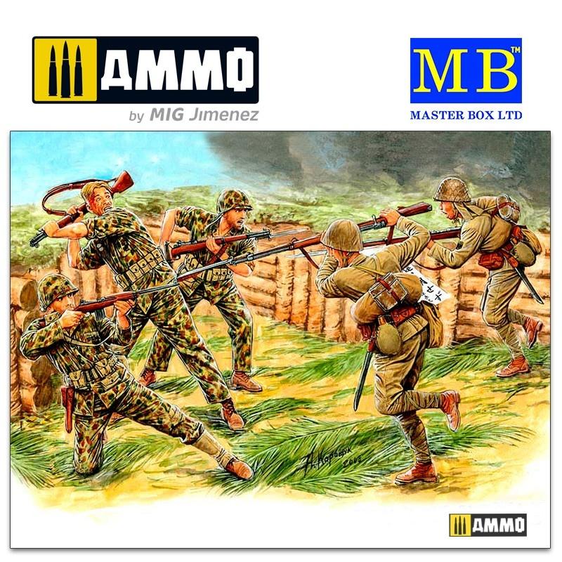 Master Box Ltd Bloody Atoll series. Kit No 3, Hand-to-hand combat, Tarawa, November 1943 - Scale 1/35 - Masterbox Ltd - MBLTD3544