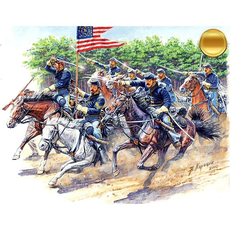 Master Box Ltd 8th Pennsylvania Cavalry, 89th Regiment Pennsylvanian Volunteers, Battle of Chancellorsville, May, 2nd, 1863. American Civil War Series. Attack! - Scale 1/35 - Masterbox Ltd - MBLTD3550