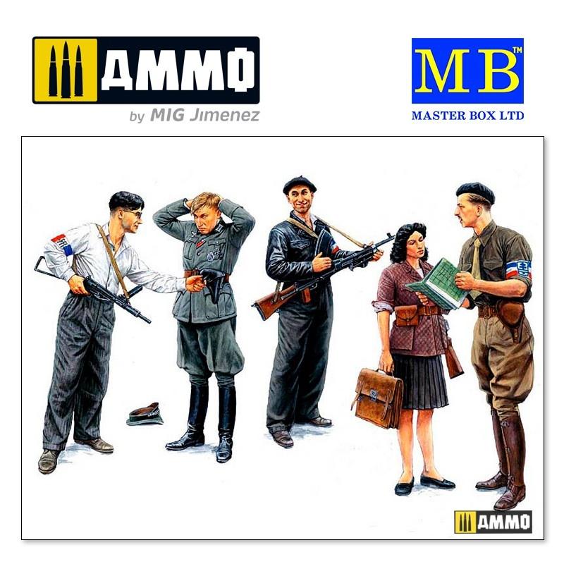 Master Box Ltd Maquis, French Resistance  - Scale 1/35 - Masterbox Ltd - MBLTD3551