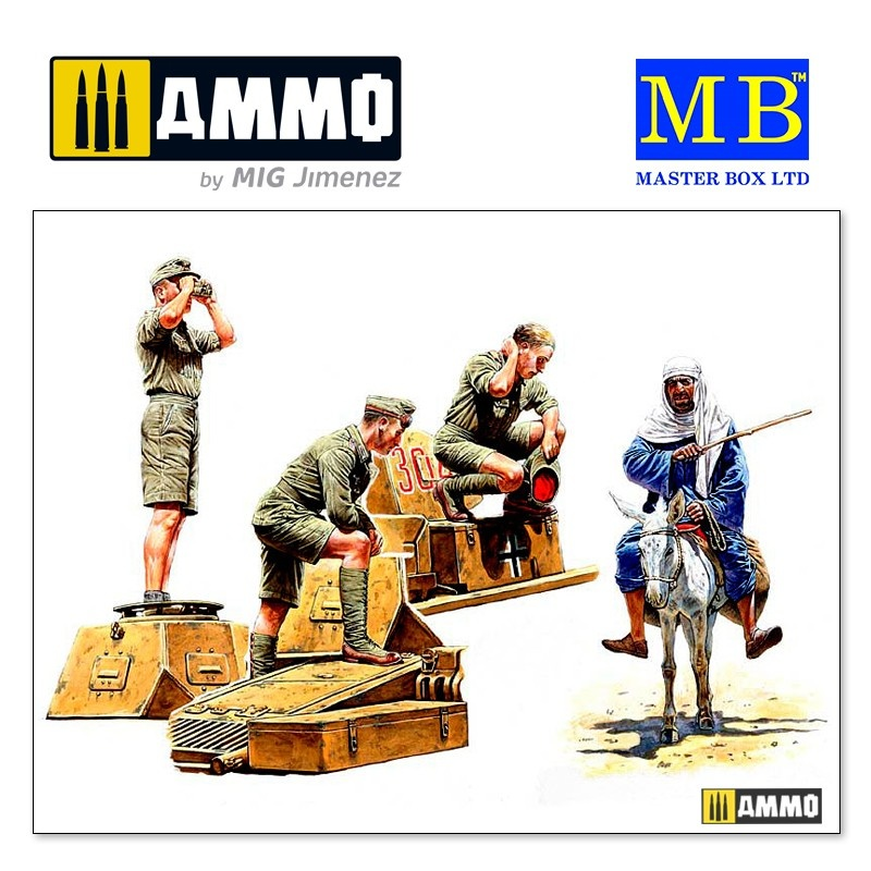 Master Box Ltd Deutsches Afrika Korps, WWII Era - Scale 1/35 - Masterbox Ltd - MBLTD3559