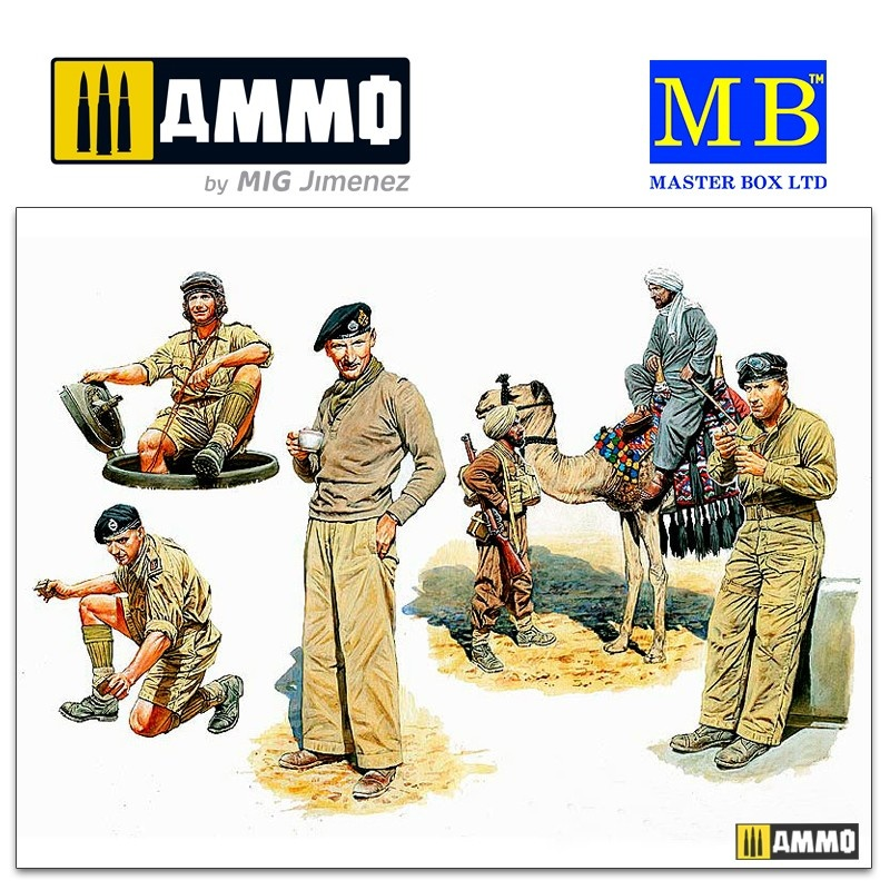 Master Box Ltd Commonwealth AFV. Crew - Scale 1/35 - Masterbox Ltd - MBLTD3564