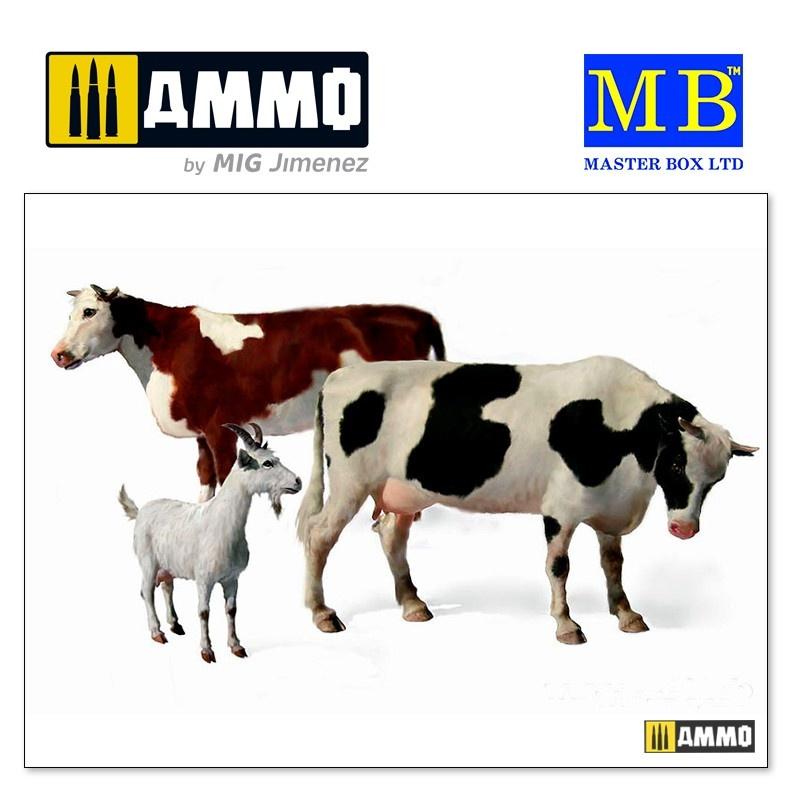 """Master Box Ltd """"Domestic Animals"""" - Scale 1/35 - Masterbox Ltd - MBLTD3566"""