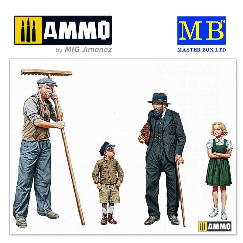 """Master Box Ltd """"Civilians, Western region, WW II era"""" - Scale 1/35 - Masterbox Ltd - MBLTD3567"""